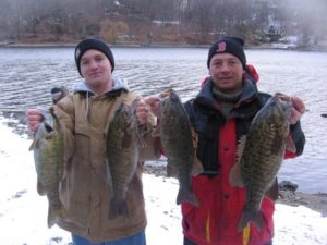 Cold weather smallmouths caught on the Binsky blade Bait